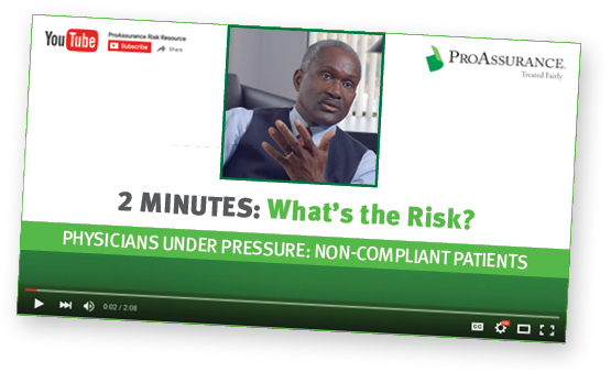 Dr. Stephen Dallas Two Minutes What's the Risk Non-Compliant Patients