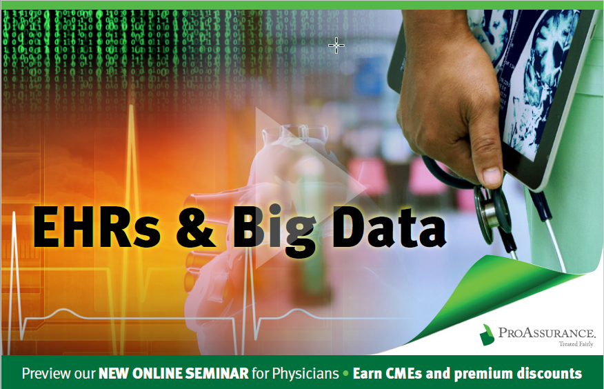 EHRs and Big Data graphic