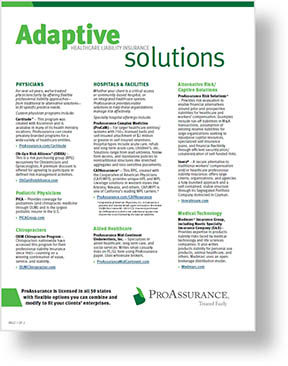 ProAssurance Adaptive Solutions Flyer