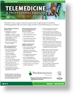 Telemedicine and Professional Liability Best Practice Guide